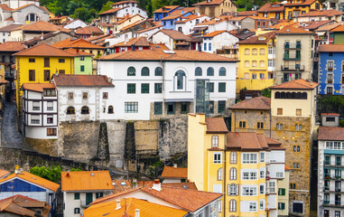Colorful houses in Basque Country