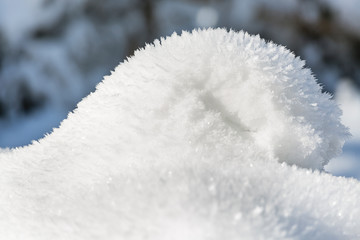 Pile Of Snow And Ice Flowers