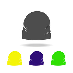 a cap, fashion multicolored icons. Can be used for web, logo, mobile app, UI, UX