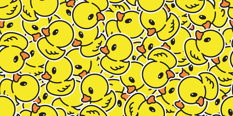 duck seamless pattern vector rubber ducky isolated cartoon illustration bird farm repeat wallpaper tile background gift wrap yellow