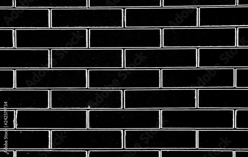 Texture Of Black Brick Wall Background And Illustration In