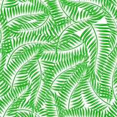 Spoed Fotobehang Tropische Bladeren Seamless palm leaves