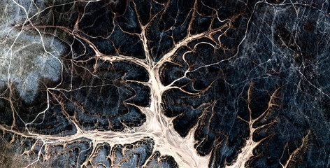 neuron, allegory, tribute to Pollock, abstract photography of the deserts of Africa from the air, aerial view, abstract expressionism, contemporary photographic art, abstract naturalism,