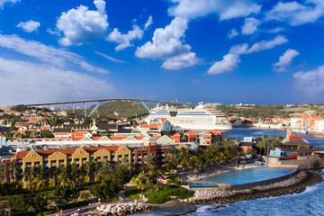 Fototapete -  Curacao island, West Indies, Dutch Caribbean