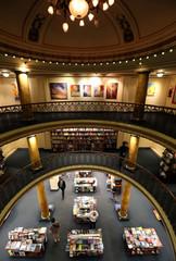 Visitors walk inside El Ateneo Grand Splendid bookstore in Buenos Aires