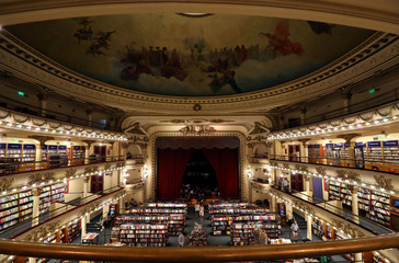 A view of El Ateneo Grand Splendid bookstore