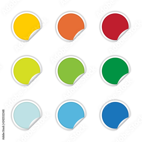 Blank Label Stickers Set - Multicolored Label Pack