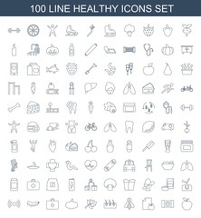 100 healthy icons