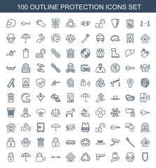 100 protection icons