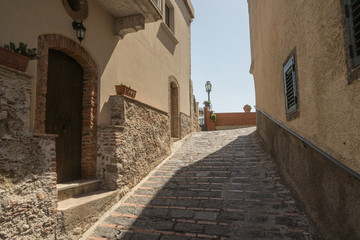 A side street in Savoca in Sicily