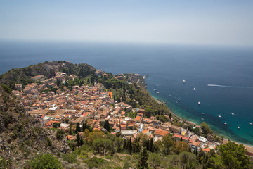 A view of  Taormina in Sicily