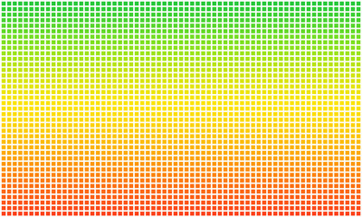 Rasta flag dotted pixel. Aspect ratio 3:5