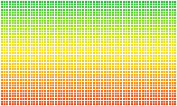Rasta flag dotted pixel. Aspect ratio 3:5