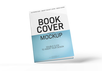Floating Book Cover Mockup