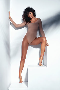 Portrait of a tanned, sensual latina lady