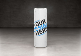 Slim Soda Can Mockup