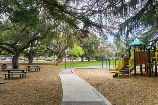 Landscape in an small park in south San Francisco bay area, California
