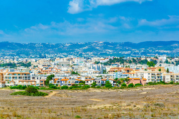 Aerial view of Paphos, Cyprus