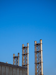 Industrial big chimney stacks