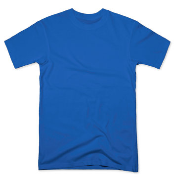 blue tee shirt mock up