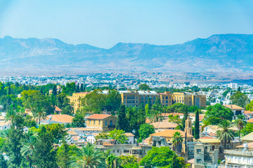 Aerial view of Nicosia, Cyprus
