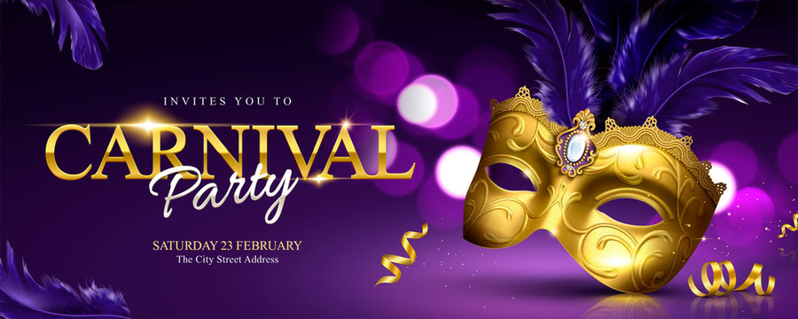Carnival party banner design