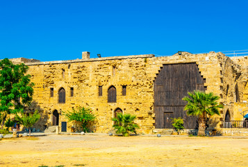 Courtyard of the Kyrenia Castle situated in the Northern Cyprus