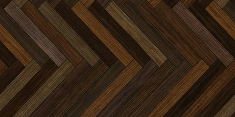 Seamless wood parquet texture horizontal herringbone deep brown