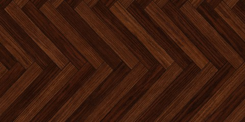 Seamless wood parquet texture horizontal herringbone deep brown