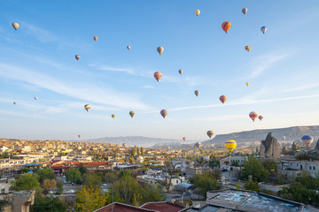 Wall Mural - Hot air balloon are riding in Cappadocia, Turkey