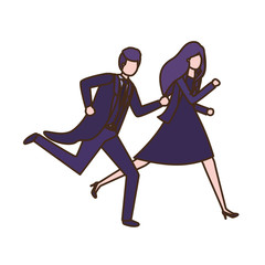business couple avatar character