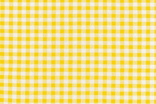 motif carreaux jaunes tissu Vichy