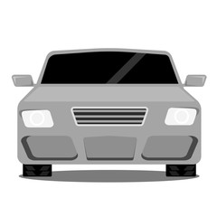 silver sports car on a white background