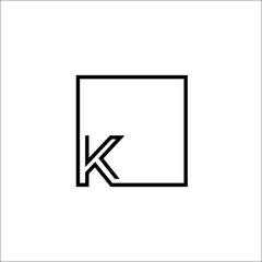 k and square logo design
