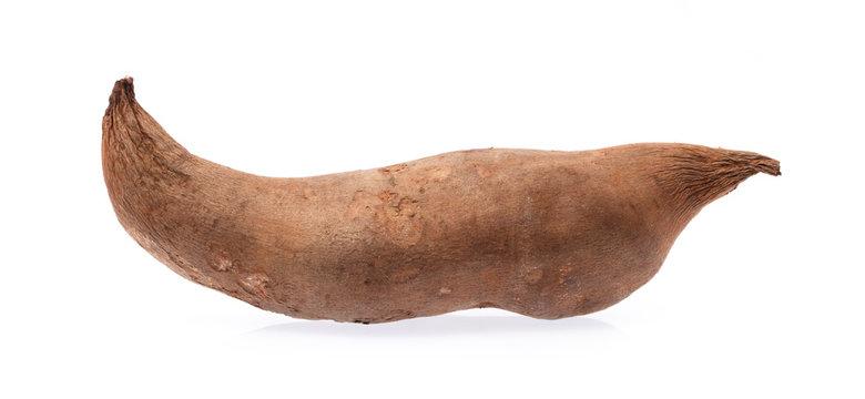 fresh yam potato isolated on white background
