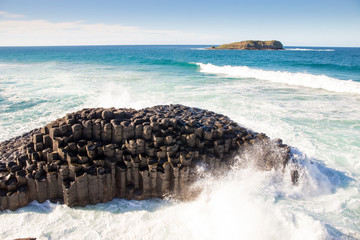 Giant's Causeway on a sunny day