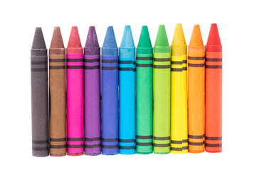 crayon isolated on white background