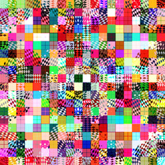 Abstract digital art geometric shapes background.