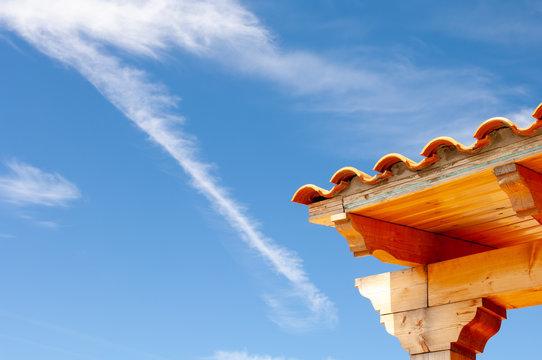 coin de toiture ciel, roofing corner sky