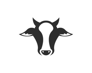 Vector of cow design on white background. Vector illustration. Farm Animals. - Vector