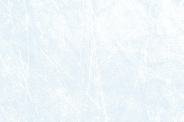 Eishockey Hintergrund - Helles Eis mit Kratzern von Schlittschuhen