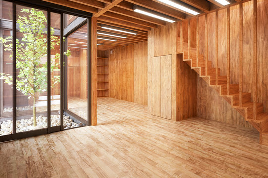 Contemporary Eco House Architecture - 3d visualization
