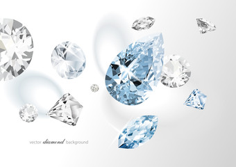 Luxury background with diamonds for modern design