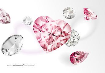 Heart shape diamond luxury background