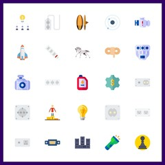 25 power icon. Vector illustration power set. manifold and rope icons for power works