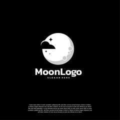 Moon logo designs concept vector, Night Moon Dreams logo template
