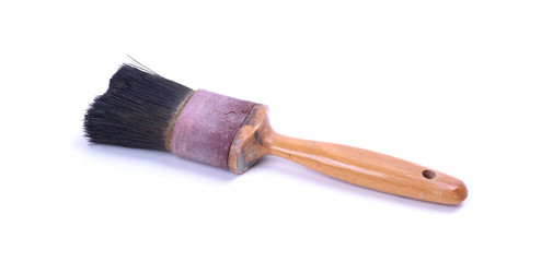 Old and used paint brush