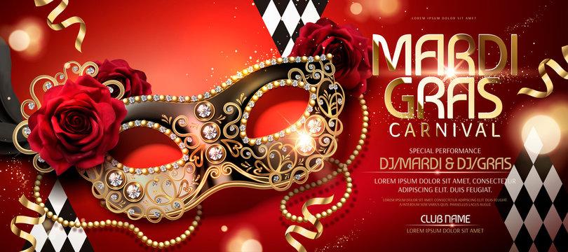 Mardi gras carnival banner