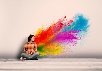 powder explosion Wall mural