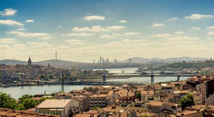 Galata tower, Galata bridge, Golden Horn bridge and Ataturk Bridge